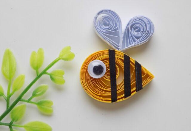"""Поделка """"Пчелка"""" из бумаги своими руками в технике квиллинг"""