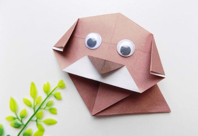 Собачка оригами из бумаги: пошаговый мастер-класс