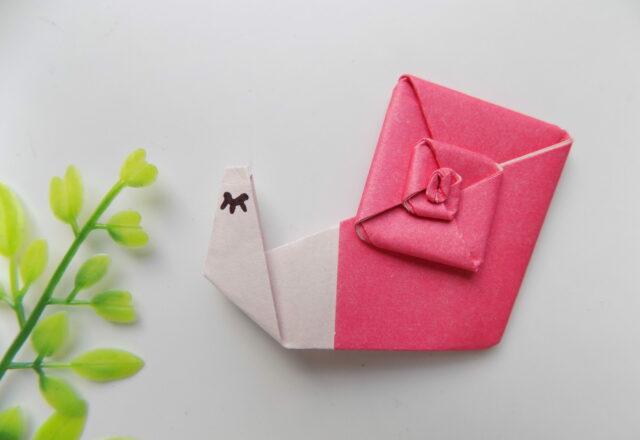 """""""Улитка"""" из бумаги в технике оригами с пошаговыми фото"""