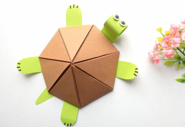Как сделать Черепашку оригами из бумаги поэтапно