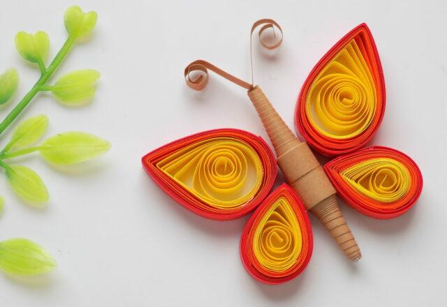 Как сделать бабочку квиллинг из бумаги для начинающих