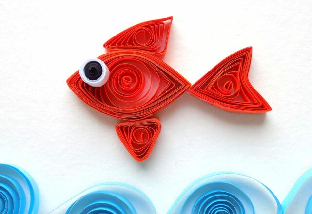 Квиллинг «Рыбка» из полосок цветной бумаги своими руками