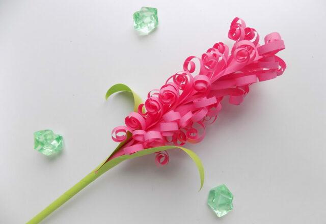 Объемный цветок Гиацинт из бумаги своими руками