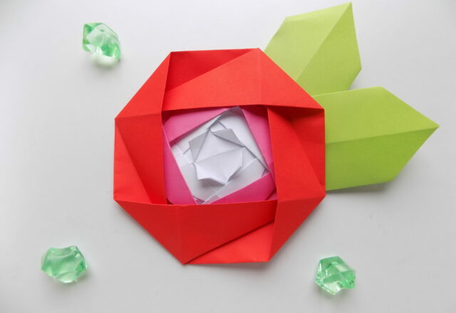 "Оригами ""Роза"" из бумаги"