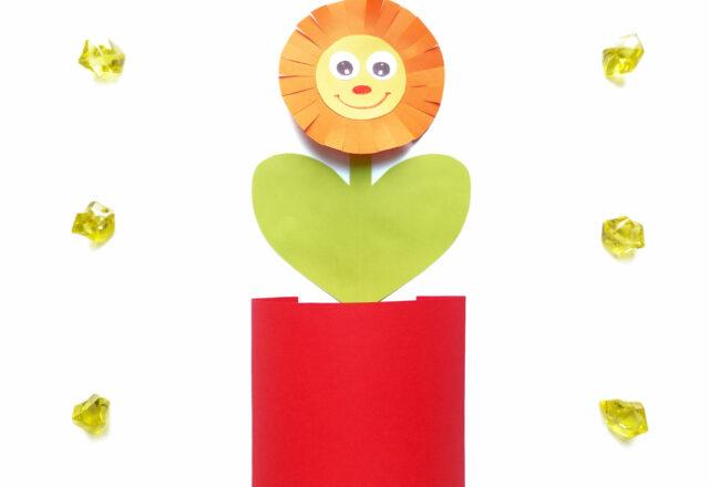 Цветок в горшке из бумаги – объемная аппликация для детей