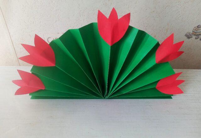 Объемная поделка «Букет цветов» из бумаги – пошаговая инструкция