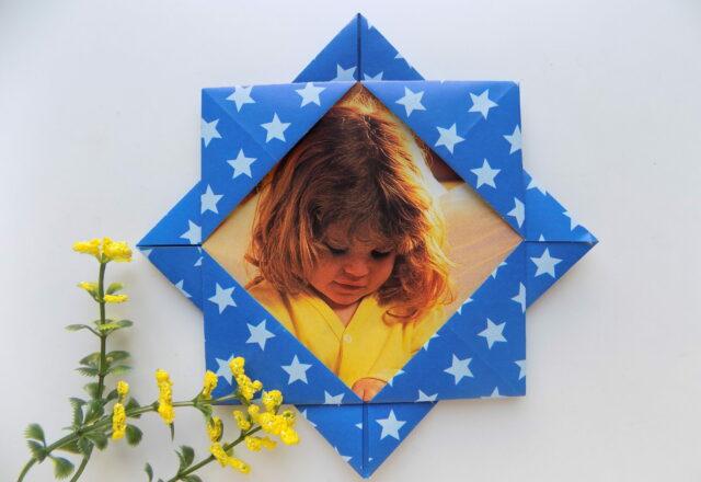 Оригами рамка для фото своими руками из бумаги